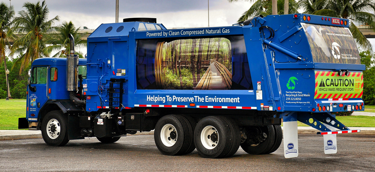 Fort Myers Garbage Truck Wrap Example 3
