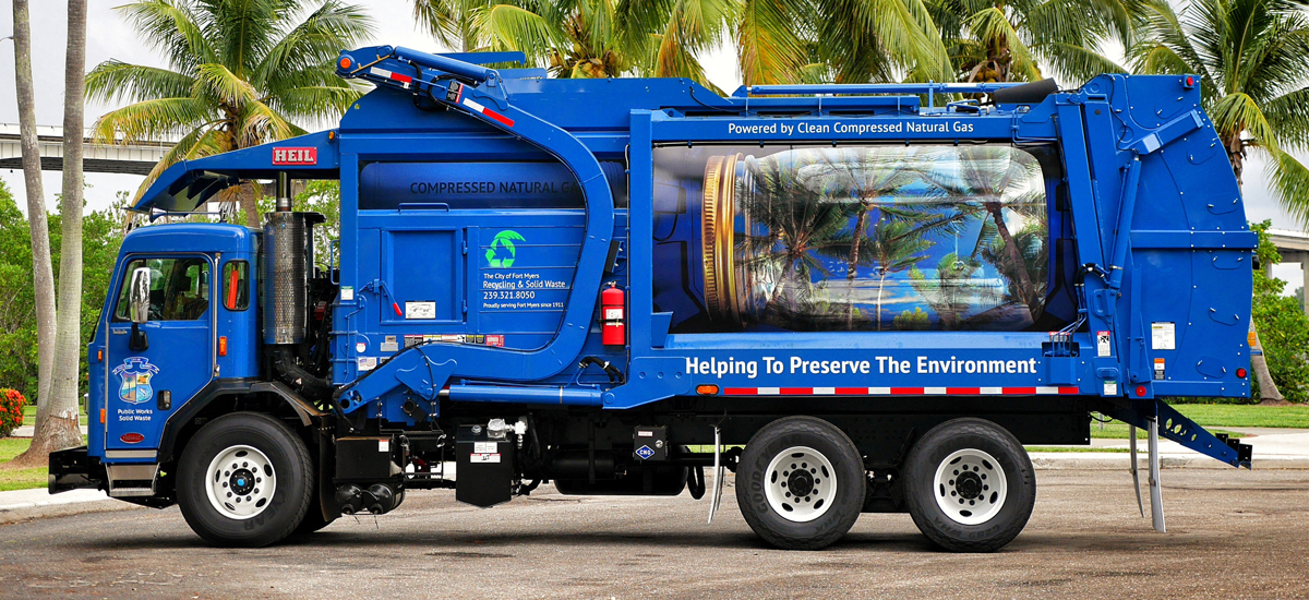 Fort Myers Garbage Truck Wrap Example 4