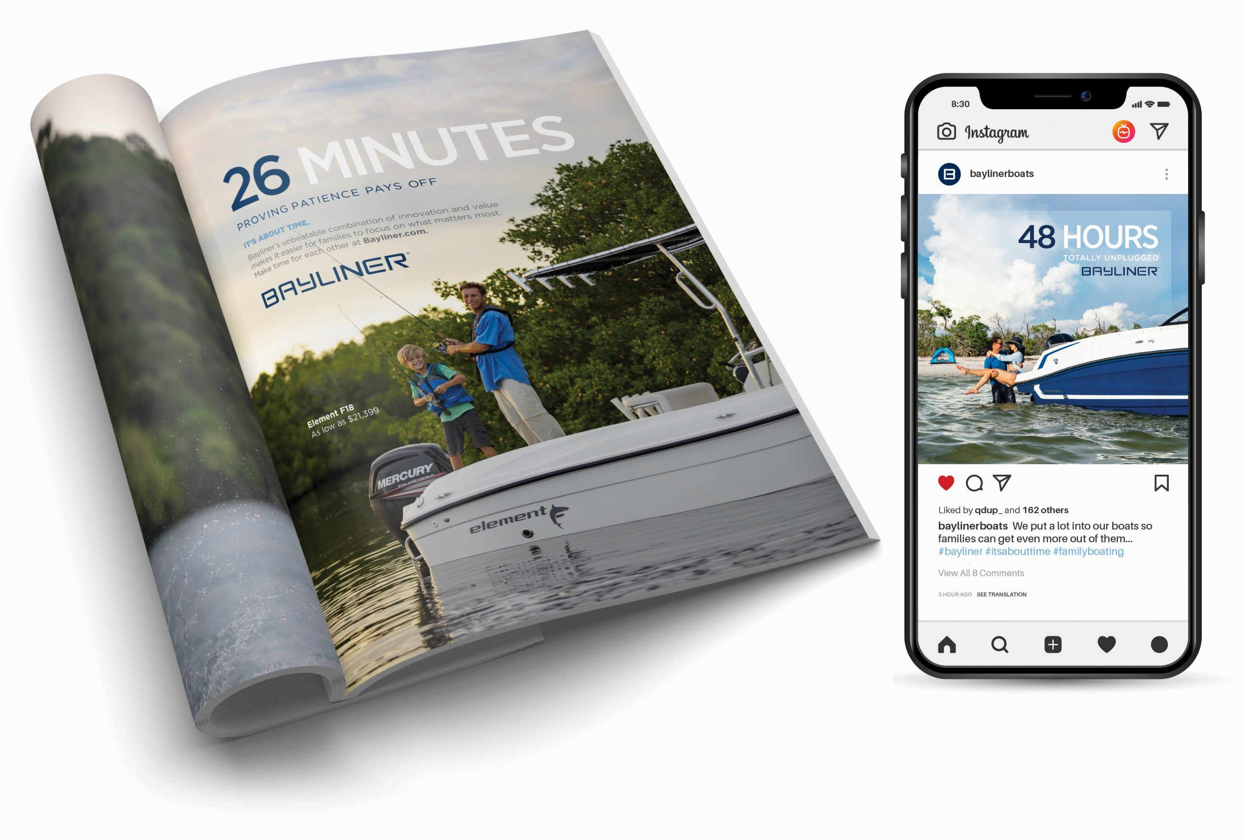 Bayliner Boats - Brand awareness campaign examples 1