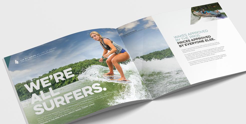 Heyday Wake Boat - Marketing Catalog Spread