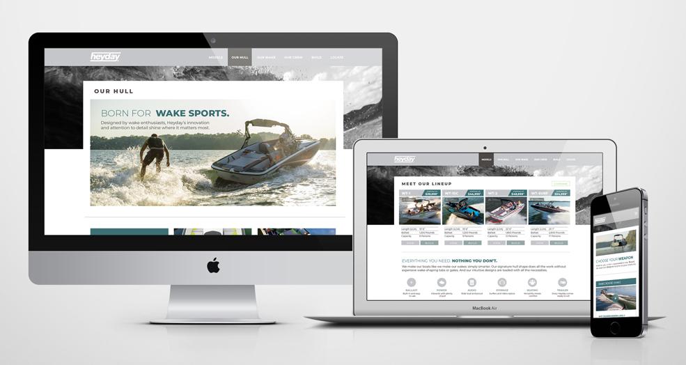 Heyday Wake Boat - Marketing Website Examples