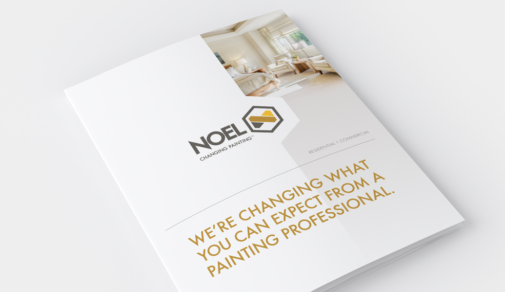Noel Painting Rebrand Marketing Kit Brochure