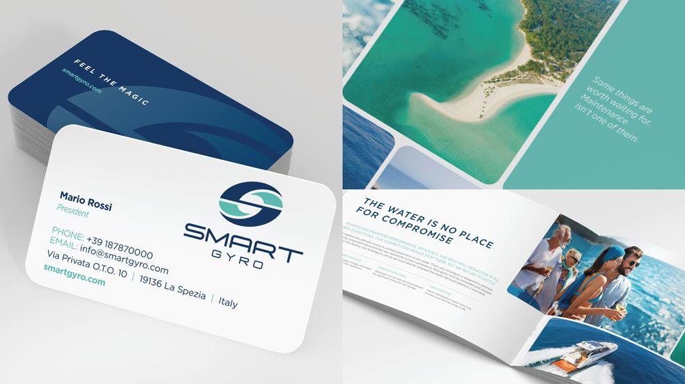 Smartgyro Brand Development Business Cards and Catalog