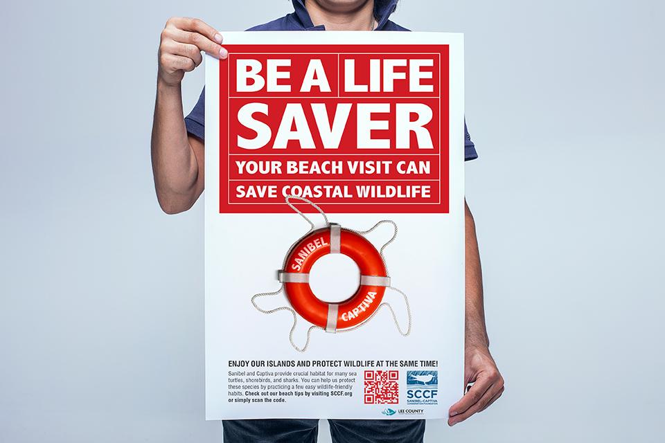SCCF Be A Life Saver poster mock up